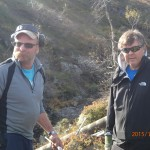 Kjell Ljosland og Sven Arne Stenersen var med og reparete bro